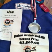second place included a silver medal skillet