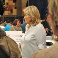 Martha Stewart walking the Bake-Off floor