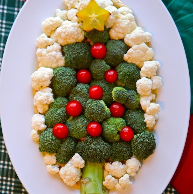 Veggie Christmas Tree Recipe: Christmas Tree Veggie Plate