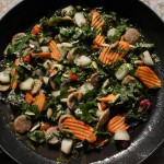 Allspiced-Up Maple Glazed Sausage and Pear Skillet Salad