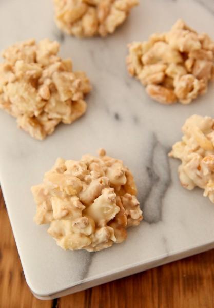 Peanutty Pie Crust Clusters