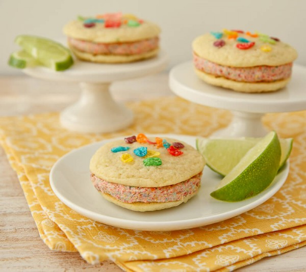 Coconut-Lime Rainbow Whoopie Pies