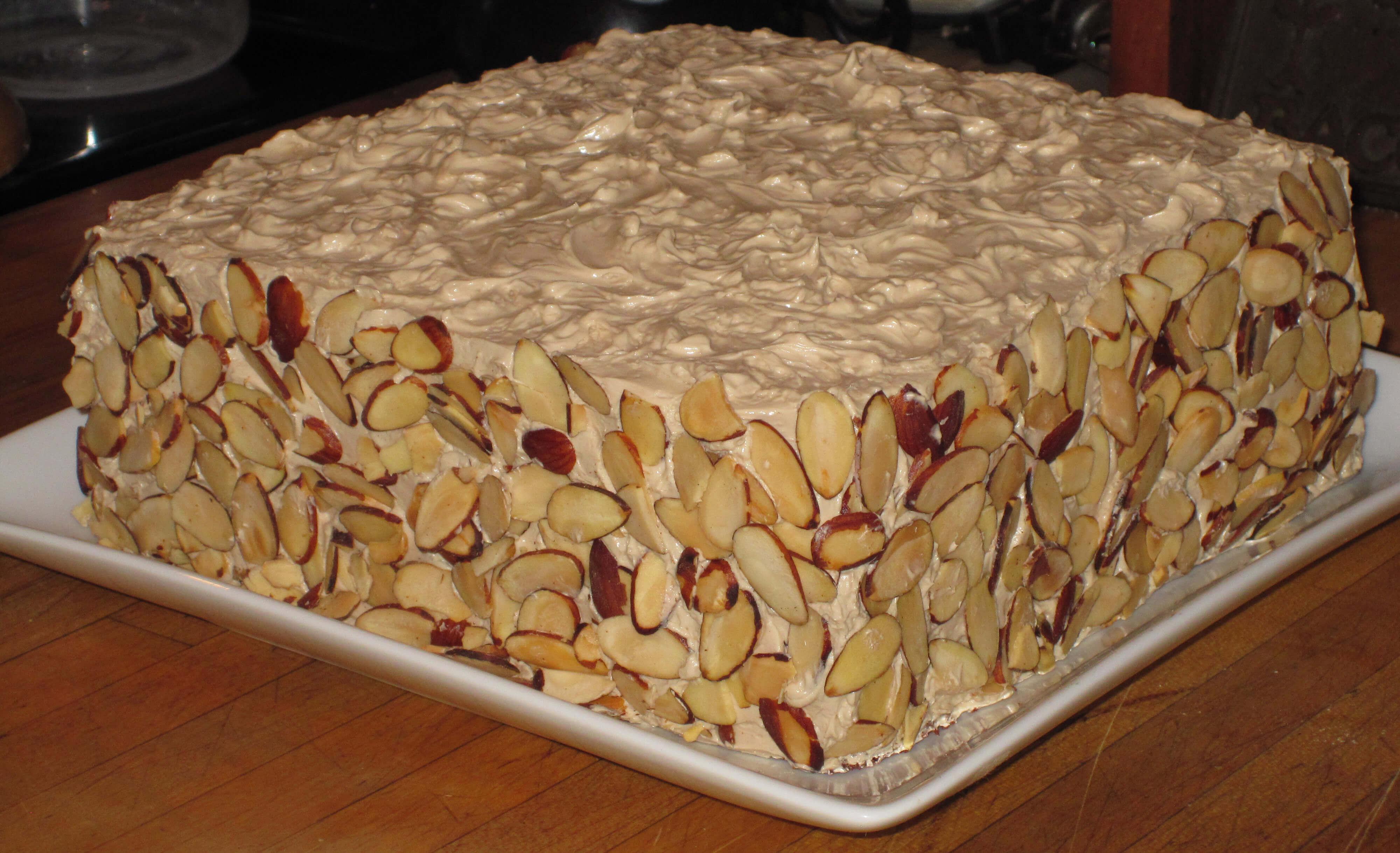 Mocha Almond Toffee Cake