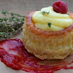 Vol Au Vents with Raspberry Thyme Coulis