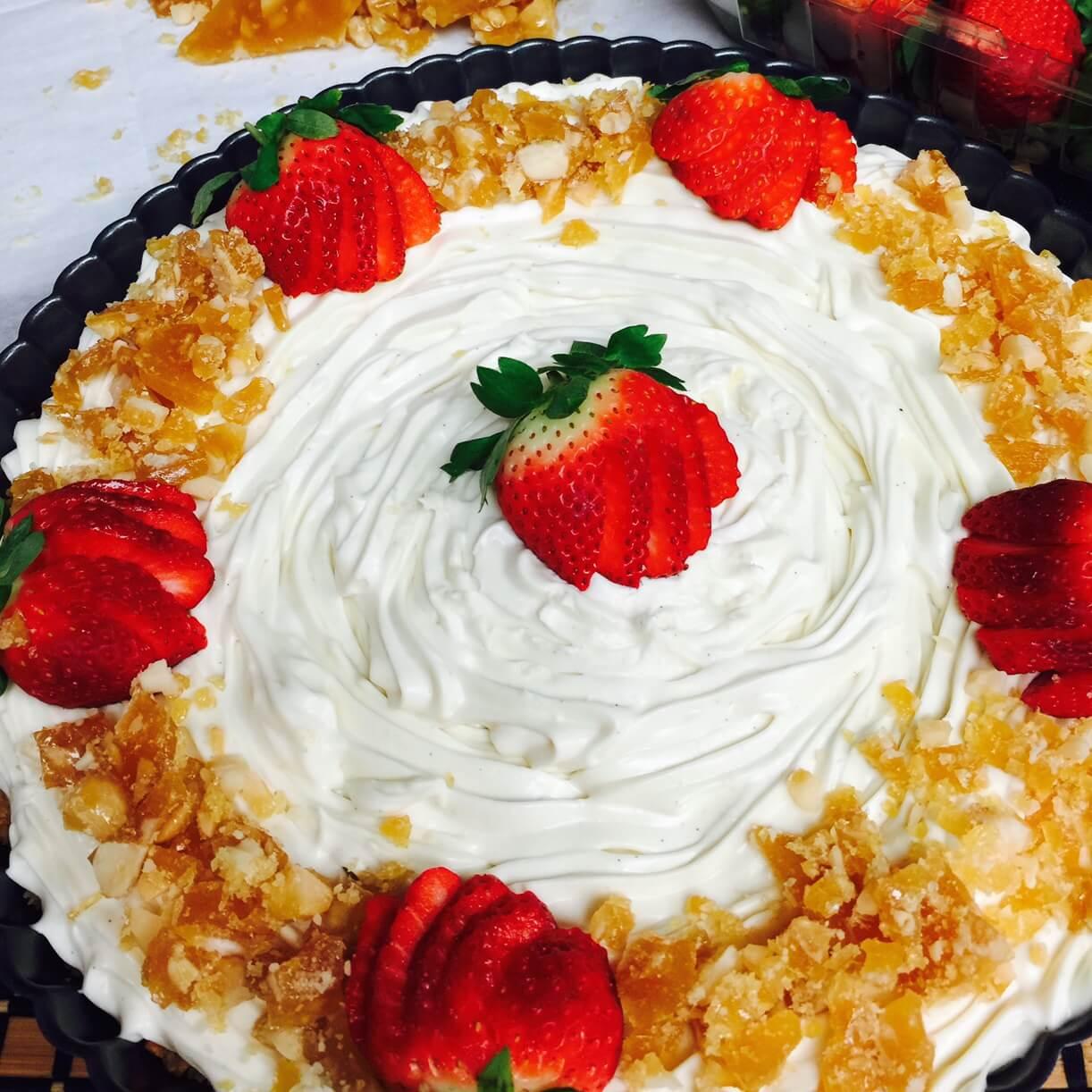 White Chocolate Caramel Cheesecake With Macadamia Nuts Recipe
