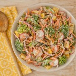 Vegetable Salad with Homemade Light Ranch Dressing