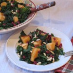 Kale Salad with Cantaloupe and Pomegranate