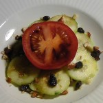 Tomato and Cucumber Salad with Blood Orange Drizzle