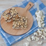 Peanutty Chocolate Caramel Popcorn Bars