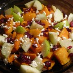 Roasted Butternut Squash Salad with Apples and Cranberries