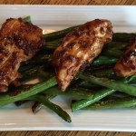 Grilled Honey Balsamic Chicken over Grilled Green Beans