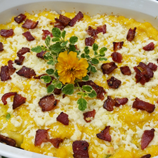 """""""Three Sisters"""" Side Dish with Bacon"""