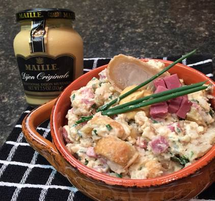 """Knish Me"" Corned Beef Potato Salad with Dijonnaise Dressing"