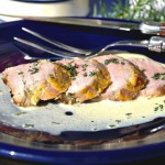 Dijon Mustard Pork Tenderloin with Tarragon Wine Sauce