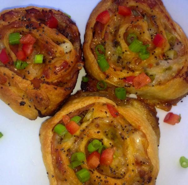 Holiday Ham & Honey Dijon Pinwheels