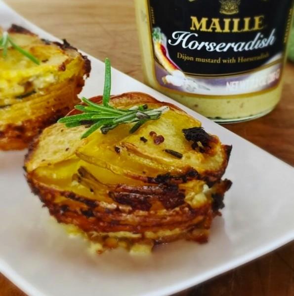 Rosemary-Dijon Potato Stacks