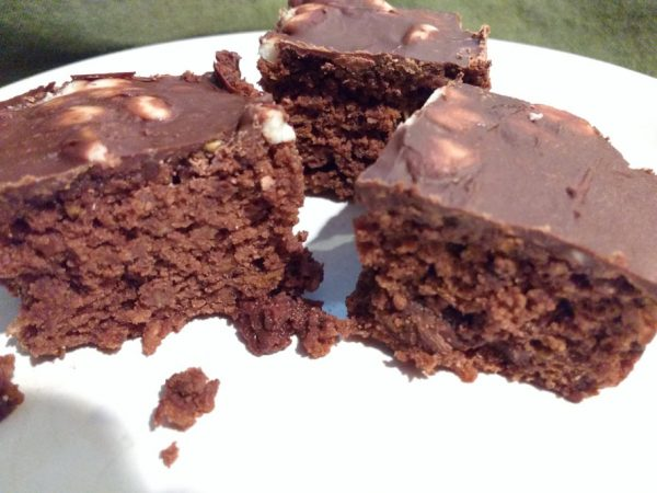 Mann's Broccoli Cole Slaw Brownies with Chocolate and White Morsel Topping