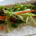 Bulgogi Soft Tacos with Tangy Broccoli Cole Slaw