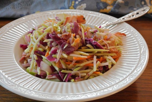 Warm Bacon and Broccoli Slaw with Apples