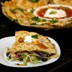 Broccoli Cole Slaw, Chicken, and Black Beans Quesadillas