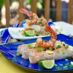 Latin Style Citrus-Honey-Chipotle Shrimp Spring Rolls