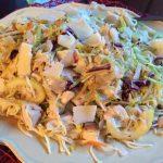 Lemon Butter Broccoli Slaw Chicken and Angel Hair Pasta