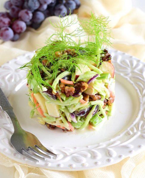 Broccoli Slaw Waldorf Salad