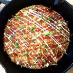 Japanese-style Pancake with Okonomiyaki Sauce