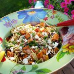Roasted Sweet Potato and Broccoli Slaw Salad