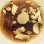 Asian Broccoli Slaw WonTon Soup