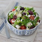 Greek Islands Salad with Lemon-Oregano Vinaigrette